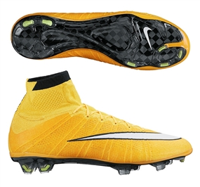 Nike Mercurial SuperFly IV Soccer Cleats (Laser Orange/Volt/Black/White)