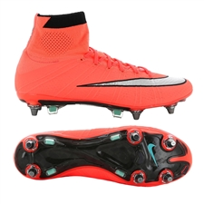 Nike Mercurial SuperFly IV SG-Pro Soccer Cleats (Bright Mango/Hyper Turquoise/Metallic Silver)