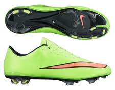 Nike Mercurial Vapor X Soccer Cleats (Electric Green/Volt/Black/Hyper Punch)
