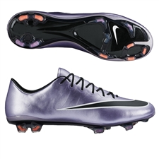 Nike Mercurial Vapor X FG Soccer Cleats (Urban Lilac/Bright Mango/Black)