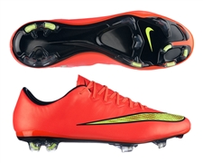 Nike Mercurial Vapor X Soccer Cleats (Hyper Punch/Metallic Gold/Black/Volt)