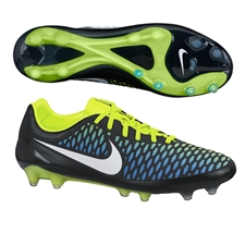 Nike Magista Opus FG Soccer Cleats (Black/Blue Lagoon/Volt/White)