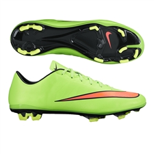 Nike Mercurial Veloce II FG Soccer Cleats (Electric Green/Hyper Punch/Black/Volt)