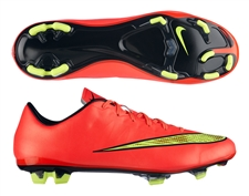 Nike Mercurial Veloce II FG Soccer Cleats (Hyper Punch/Metallic Gold/Black/Volt)