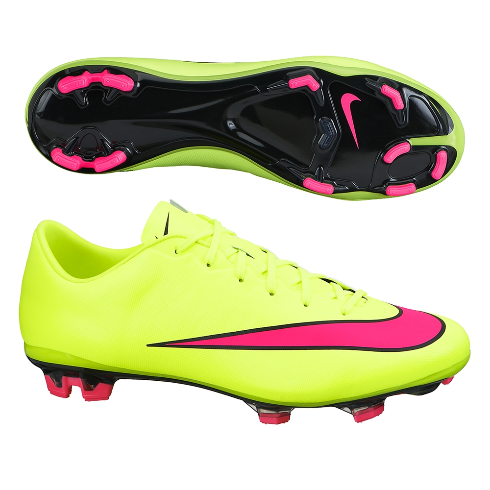 nike mercurial veloce ii fg soccer cleats volt hyper pink. Black Bedroom Furniture Sets. Home Design Ideas