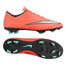 Nike Mercurial Victory V FG Soccer Cleats (Bright Mango/Hyper Turquoise/Metallic Silver)