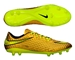 Nike Hypervenom Phantom Premium FG Soccer Cleats (Metallic Gold Coin/Black/Volt)