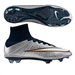 Nike Mercurial SuperFly IV CR7 FG Soccer Cleats (Metallic Silver/White/Hyper Turquoise/Dark Obsidian)