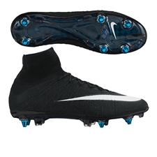 Nike Mercurial SuperFly IV CR7 SG-Pro Soccer Cleats (Black/Neo Turquoise/White)