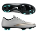 Nike Mercurial Victory V CR7 FG Soccer Cleats (Metallic Silver/Hyper Turquoise/Black)