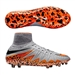 Nike Hypervenom Phantom II FG Soccer Cleats (Wolf Grey/Total Orange/Black)
