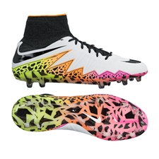 Nike Hypervenom Phantom II FG Soccer Cleats (White/Total Orange/Volt/Black)
