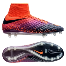 Nike Hypervenom Phantom II FG Soccer Cleats (Total Crimson/Obsidian/Vivid Purple)