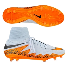 Nike Hypervenom Phatal II Dynamic Fit FG Soccer Cleats (Wolf Grey/Black/Total Orange)