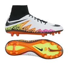 Nike Hypervenom Phatal II DF FG Soccer Cleats (White/Total Orange/Volt/Black)