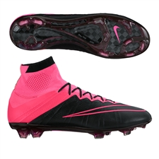 Nike Mercurial SuperFly IV Tech Craft (Leather) FG Soccer Cleats (Black/Hyper Pink/Pink Pow)