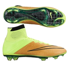 Nike Mercurial SuperFly IV Tech Craft (Leather) FG Soccer Cleats (Canvas/Volt/Black)