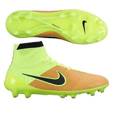 Nike Magista Obra Tech Craft (Leather) FG Soccer Cleats (Canvas/Volt/Black)