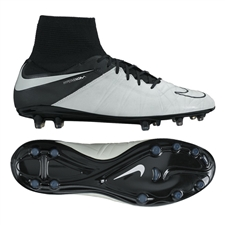 Nike Hypervenom Phantom II Tech Craft (Leather) FG Cleats (Light Bone/Black/Light Bone)