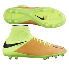 Nike Hypervenom Phantom II Tech Craft (Leather) FG Soccer Cleats (Canvas/Volt/Black)