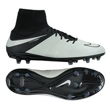 Nike Hypervenom Phatal II DF Tech Craft (Leather) FG Cleats (Light Bone)