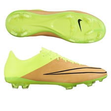 Nike Mercurial Vapor X Tech Craft (Leather) FG Cleats (Canvas/Volt/Black)