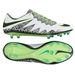 Nike Hypervenom Phinish FG Soccer Cleats (Pure Platinum/Black/Ghost Green)