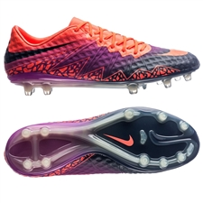 Nike Hypervenom Phinish FG Soccer Cleats (Total Crimson/Obsidian/Vivid Purple)