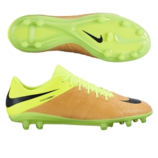 Nike Hypervenom Phinish Tech Craft (Leather) FG Soccer Cleats (Canvas/Volt/Black)