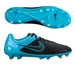 Nike Magista Opus Tech Craft (Leather) FG Soccer Cleats (Black/Turquoise Blue)