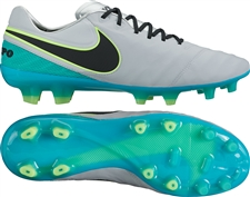 Nike Tiempo Legend VI FG Soccer Cleats (Wolf Grey/Black/Clear Jade/Hyper Turquoise)