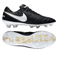 Nike Tiempo Legend VI FG Soccer Cleats (Black/White/Metallic Vivid Gold)