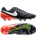 Nike Tiempo Legend VI FG Soccer Cleats (Black/White/Hyper Orange/Volt)