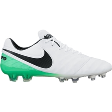 Nike Tiempo Legend VI FG Soccer Cleats (White/Black/Electro Green)