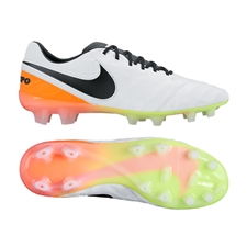 Nike Tiempo Legend VI FG Soccer Cleats (White/Total Orange/Volt/Black)