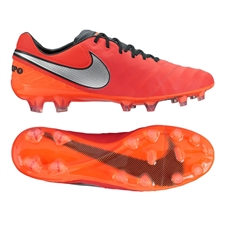 Nike Tiempo Legend VI FG Soccer Cleats (Light Crimson/Total Crimson/Metallic Silver)