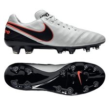 Nike Tiempo Legacy II FG Soccer Cleats (Pure Platinum/Black)