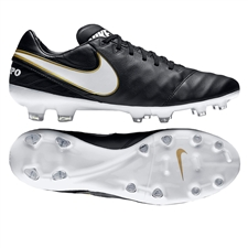 Nike Tiempo Legacy II FG Soccer Cleats (Black/White)