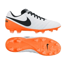 Nike Tiempo Legacy II FG Soccer Cleats (White/Total Orange/Black)