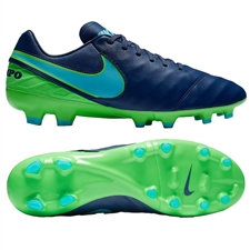 Nike Tiempo Legacy II FG Soccer Cleats (Coastal Blue/Polarized Blue/Rage Green)