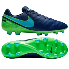 Nike Tiempo Mystic V FG Soccer Cleats (Coastal Blue/Polarized Blue/Rage Green)