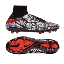 Nike Neymar Hypervenom Phantom II FG Soccer Cleats (Black/White/Bright Crimson)
