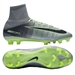 Nike Mercurial SuperFly V FG Soccer Cleats (Pure Platinum/Black/Ghost Green)