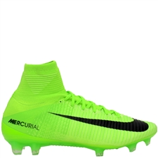 Nike Mercurial SuperFly V FG Soccer Cleats (Electric Green/Black/Ghost Green/White)