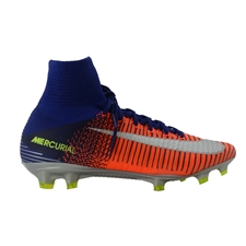 Nike Mercurial SuperFly V FG Soccer Cleats (Deep Royal Blue/Chrome/Total Crimson)