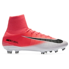 Nike Mercurial SuperFly V FG Soccer Cleats (Racer Pink/Black/White)