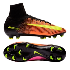 Nike Mercurial SuperFly V FG Soccer Cleats (Total Crimson/Volt/Black/Pink Blast)