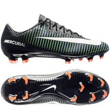 Nike Mercurial Vapor XI FG Soccer Cleats (Black/White/Electric Green)