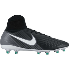 Nike Magista Orden II FG Soccer Cleats (Black/White/Cool Grey/Stadium Green)