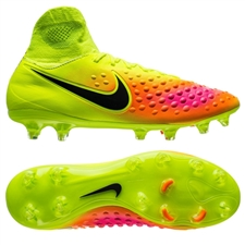 Nike Magista Orden II FG Soccer Cleats (Volt/Black/Total Orange/Pink Blast)